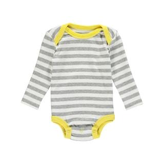 Rockin' Baby Baby Boys' Grey/White Striped Cotton Bodysuit