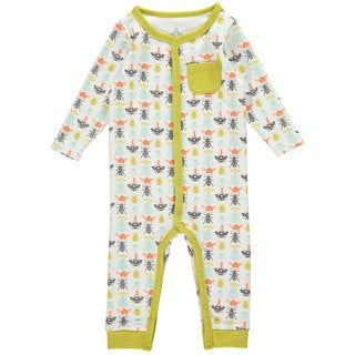 Rockin Baby Baby Boy White Bug Print Romper