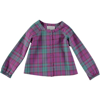 Rockin' Baby Girls' Pink Brushed Check Blouse