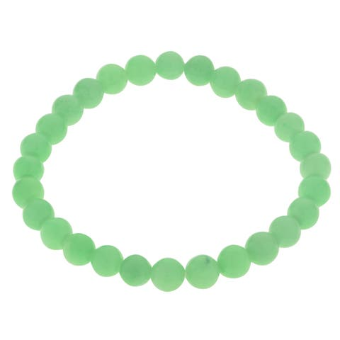 Gems For You Jade Bead Stretch Bracelet