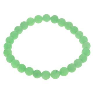 Gems For You Jade Bead Stretch Bracelet