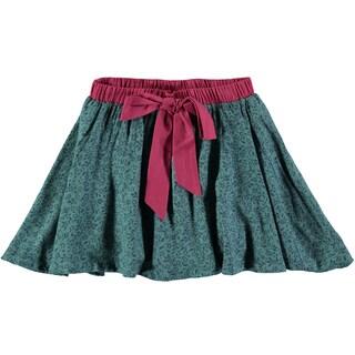 Rockin Baby Girl's Teal Ditsy Print Skirt