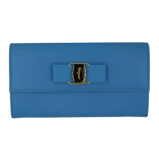 Salvatore Ferragamo Sky Blue Leather Clutch