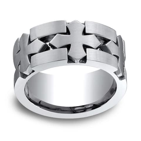 Men's Cobalt Satin Finish Ring (10 mm)