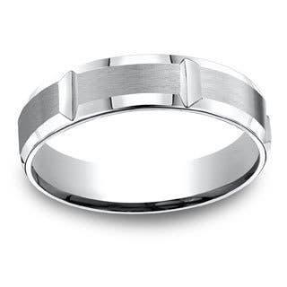 Men's Vertical Gear Cut Cobalt 5-millimeter Ring