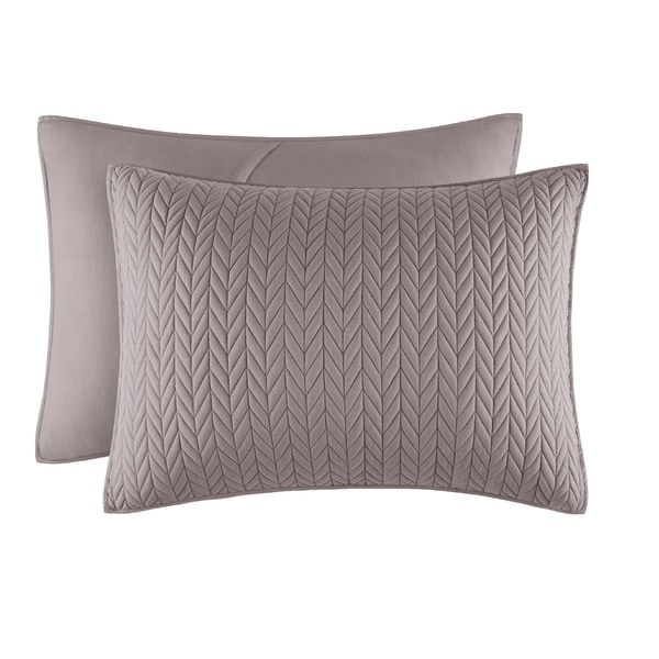 Five Queens Court Catori Charcoal Grey Quilted Standard Sham