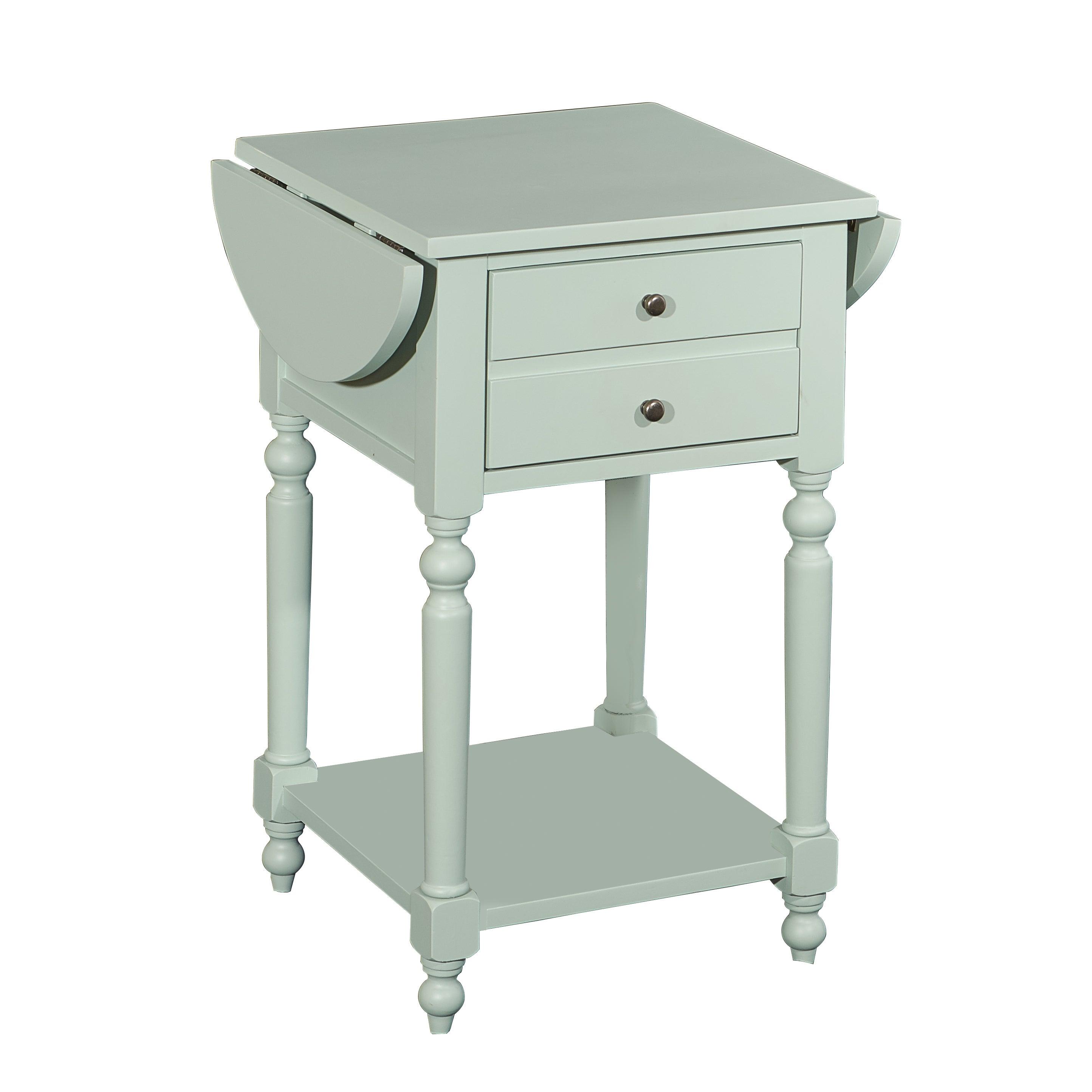 Powell Furniture Shiloh Aqua Dropleaf Accent Table (Aqua)...