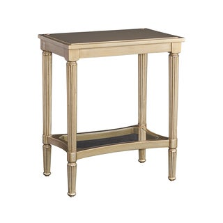 Powell Masterpiece Mia Gold Wood and Mirrored Glass Serving Tray Accent Table