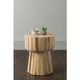 East At Main's Lawton Brown Round Teak Log Accent Table