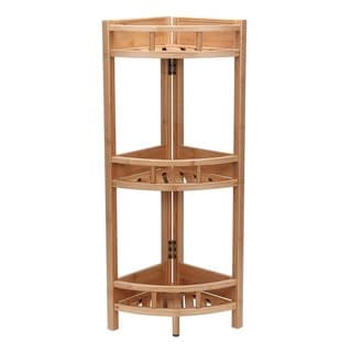 Bamboo 3-tier Corner Storage Shelf