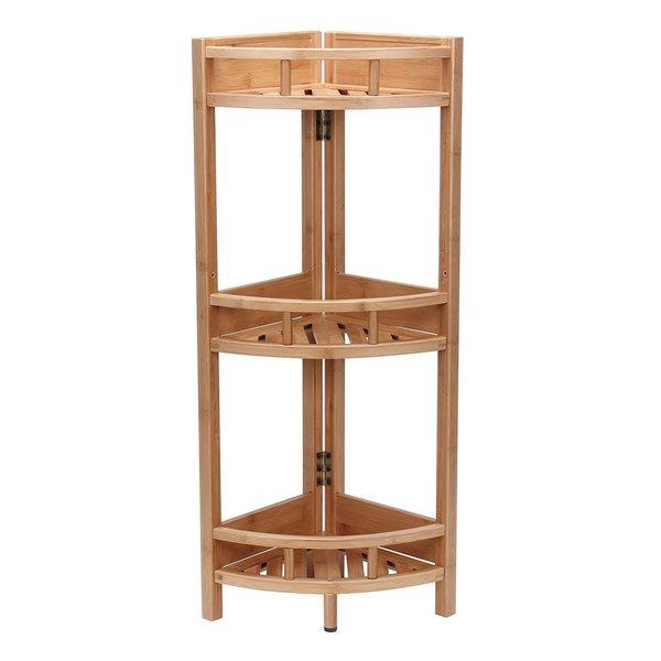 Bamboo 3-tier Corner Storage Shelf