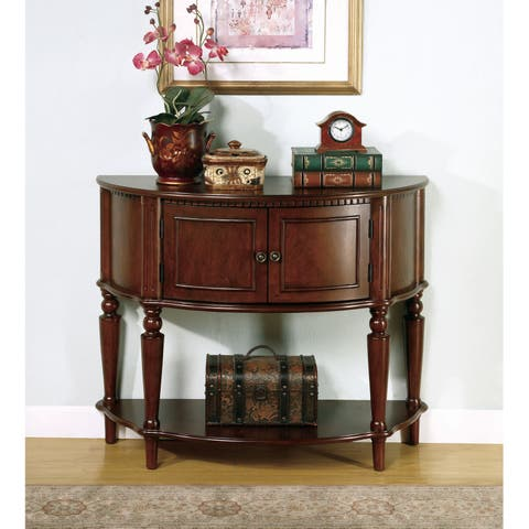 """Brown Traditional Entryway Console Table - 38"""" x 14.50"""" x 31"""""""