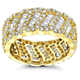 Luxurman 18k Gold 2 1/2ct TDW Designer Diamond Eternity Band