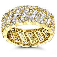 Luxurman 18k Gold 2 1/2ct TDW Designer Diamond Eternity Band