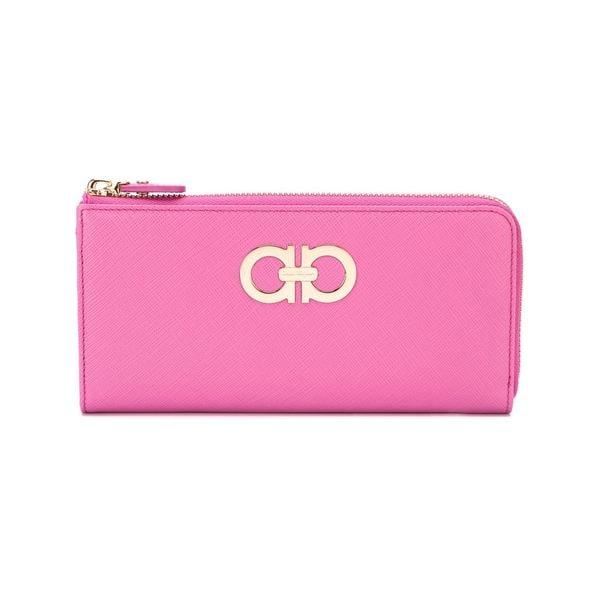gratis Tienda Zip Ferragamo Gancini Pink Salvatore Envío hoy Wallet 14094841 4x41rw0q