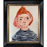 Henri Matisse 'Portrait of Pierre Matisse' Hand Painted Framed Oil Reproduction on Canvas