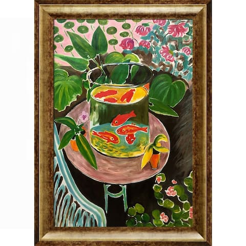 Henri Matisse 'The Gold Fish' Hand Painted Framed Oil Reproduction on Canvas