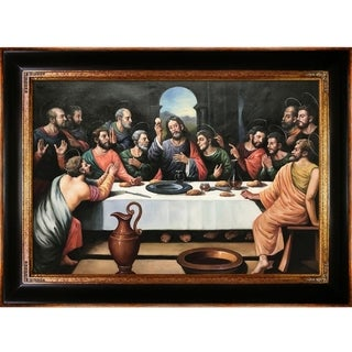 Juan de Juanes 'The Last Supper' Hand Painted Framed Oil Reproduction on Canvas