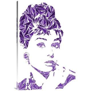 Naxart Studio 'Audrey Hepburn' Stretched Canvas Wall Art