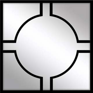 Black Metal Geometric Mirror
