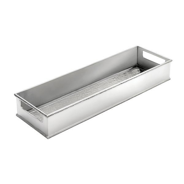 Reed & Barton Heritage Nickel-finished Pewter Hammered Long Tray