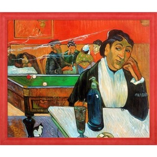Paul Gauguin 'Night Cafe at Arles' Hand Painted Framed Oil Reproduction on Canvas