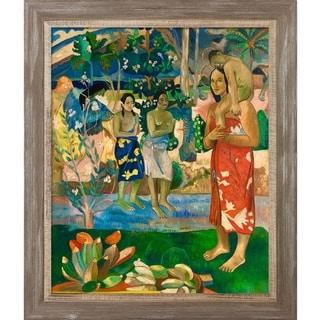 Paul Gauguin 'Orana Maria (We Hail Thee Mary), 1891' Hand Painted Framed Oil Reproduction on Canvas