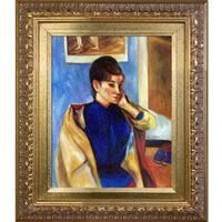 Paul Gauguin 'Madeleine Bernard' Hand Painted Framed Oil Reproduction on Canvas