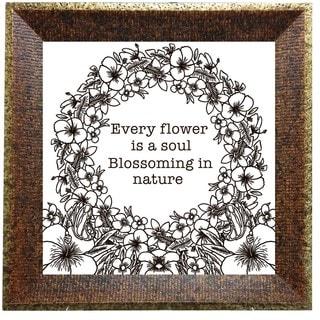 'Every Flower' Inspirational Framed Print