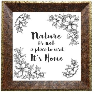 'Nature is Home' Framed Print