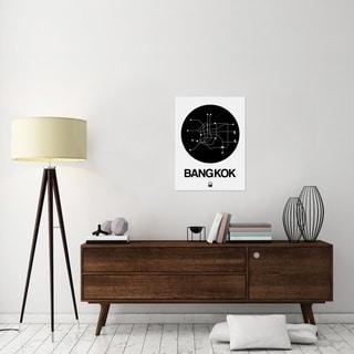 NAXART Studio 'Bangkok Black Subway Map' Black/White Stretched Canvas Wall Art