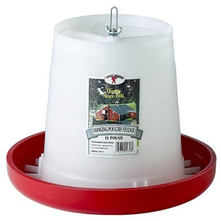 Little Giant Farm & Ag 11 Lbs Plastic Hanging Poultry Feeder