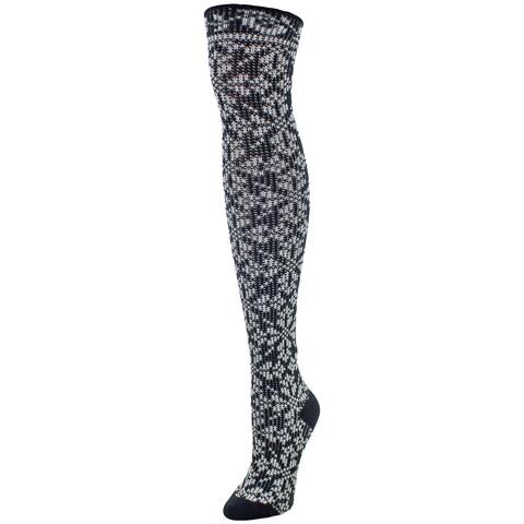 MeMoi Women's Brussels Lace Over-the-knee Socks
