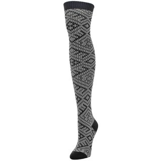MeMoi Checkers & Weaves Acrylic/Spandex Over-theknee Women Socks