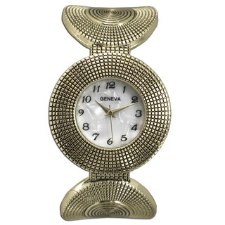 Olivia Pratt Stainless Steel Circular Pattern Cuff Watch (3 options available)