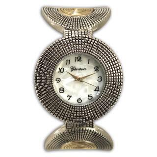Olivia Pratt Stainless Steel Circular Pattern Cuff Watch|https://ak1.ostkcdn.com/images/products/14095546/P20704968.jpg?impolicy=medium