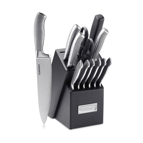 Cuisinart C77SS-13P Graphix Collection 13-Piece Stainless Steel Cutlery Block Set