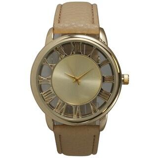 Olivia Pratt See-Through Roman Numerals Leather Watch