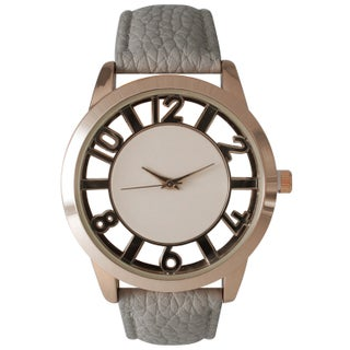 Olivia Pratt See-Through Numbers Stainless Steel Watch