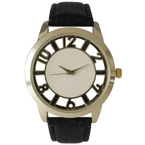 Olivia Pratt See-Through Numbers Stainless Steel Watch