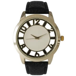 Olivia Pratt See-Through Numbers Stainless Steel Watch|https://ak1.ostkcdn.com/images/products/14095566/P20704971.jpg?impolicy=medium