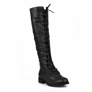 Mark and Maddux Travis-05B Lace up Women's Knee High Boot