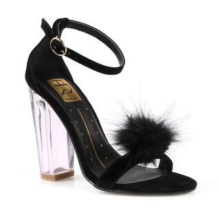 Fahrenheit Gigi-02 Women's Clear High Heel Sandal