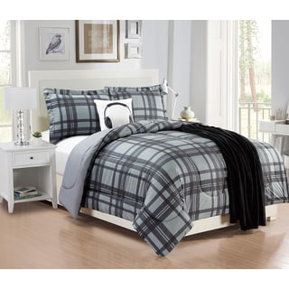 Plaid 5-piece Comforter Set