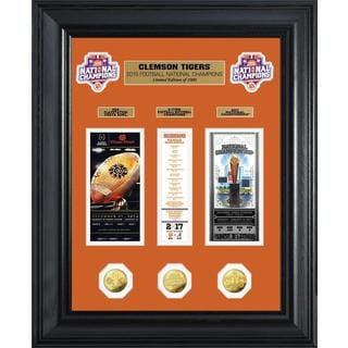Clemson 2016 Football National Champions Deluxe Gold Coin Ticket Collection