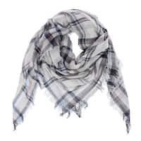 Lightweight Plaid Square Scarf