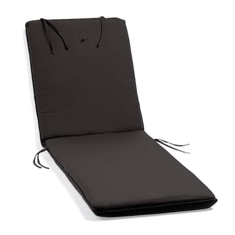 Oxford Garden Black Sunbrella Cushion for Oxford Chaise Lounge