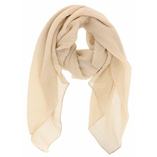 LA77 Pleated Sparkled Scarf