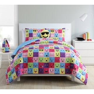 VCNY Home Facey Square Emoji 5-piece Comforter Set