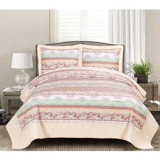 Leeza Cream 3-piece Quilt Set
